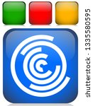 concentric random circles icon. ... | Shutterstock .eps vector #1335580595
