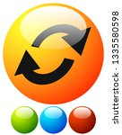 swap  flip icon. circular  oval ... | Shutterstock .eps vector #1335580598