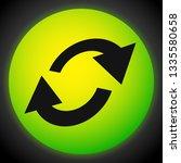 swap  flip icon. circular  oval ... | Shutterstock .eps vector #1335580658