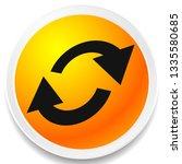 swap  flip icon. circular  oval ... | Shutterstock .eps vector #1335580685