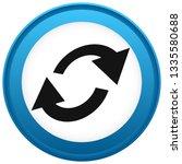 swap  flip icon. circular  oval ... | Shutterstock .eps vector #1335580688