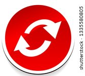 swap  flip icon. circular  oval ... | Shutterstock .eps vector #1335580805