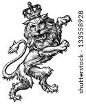 regal lion | Shutterstock . vector #133558928
