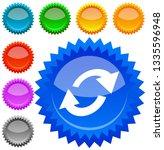 swap  flip icon. circular  oval ... | Shutterstock .eps vector #1335596948