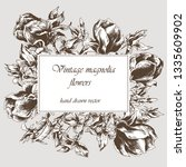 card template with vintage... | Shutterstock .eps vector #1335609902