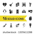 melody icons set with... | Shutterstock .eps vector #1335611288