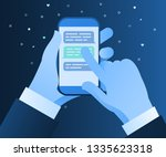 concept of messaging and... | Shutterstock .eps vector #1335623318