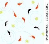patterns of goldfish | Shutterstock .eps vector #1335634352