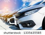 used cars  parked in the...   Shutterstock . vector #1335635585