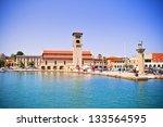 Famous Mandraki Harbor Of...