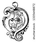 brooch is a combination of...   Shutterstock .eps vector #1335648872