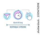 quick and easy concept icon.... | Shutterstock .eps vector #1335676598
