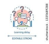 developmental delay concept... | Shutterstock .eps vector #1335689288