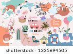colorful hand drawn cute card... | Shutterstock .eps vector #1335694505
