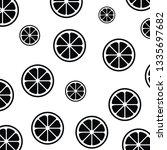 lemon slice pattern isolated... | Shutterstock .eps vector #1335697682