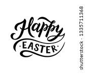 happy easter   hand drawn... | Shutterstock .eps vector #1335711368