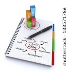 spiral notebook with the words... | Shutterstock . vector #133571786