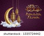 ramadan kareem background ... | Shutterstock .eps vector #1335724442