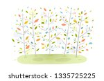 forest background nature... | Shutterstock . vector #1335725225