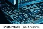 factory machine at work ... | Shutterstock . vector #1335731048