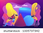 students at workshop practicing ... | Shutterstock .eps vector #1335737342