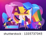 students practicing dynamic... | Shutterstock .eps vector #1335737345