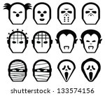 classic horror character icons...