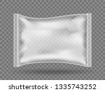 realistic transparent package... | Shutterstock .eps vector #1335743252