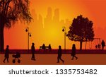 people silhouettes  urban...   Shutterstock .eps vector #1335753482