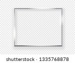 realistic shining metal picture ... | Shutterstock .eps vector #1335768878