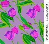 spring floral seamless pattern... | Shutterstock . vector #1335770045