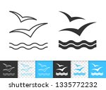 wave black linear and... | Shutterstock .eps vector #1335772232