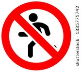 prohibition sign. black... | Shutterstock .eps vector #1335775742