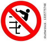 prohibition sign. black... | Shutterstock .eps vector #1335775748