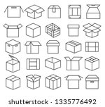 box packaging line icons.... | Shutterstock .eps vector #1335776492
