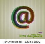 color transparency font. retro... | Shutterstock .eps vector #133581002