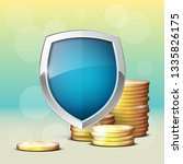 protection coins guard shield.... | Shutterstock .eps vector #1335826175