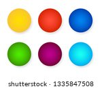 six empty color icons with...   Shutterstock .eps vector #1335847508