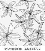 flower. line. vector. | Shutterstock .eps vector #133585772