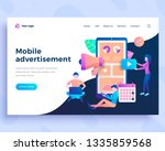 landing page template mobile... | Shutterstock .eps vector #1335859568