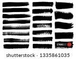 vector set of hand drawn brush...   Shutterstock .eps vector #1335861035