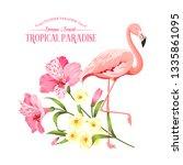 the flower paradise. summer...   Shutterstock .eps vector #1335861095