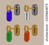 the key to success. key with... | Shutterstock .eps vector #1335864875