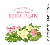 the flower paradise. summer... | Shutterstock .eps vector #1335877532