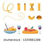 italian cuisine. delicious...   Shutterstock .eps vector #1335881288
