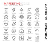 collection of marketing line... | Shutterstock .eps vector #1335881345