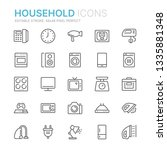 collection of household line... | Shutterstock .eps vector #1335881348