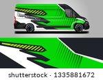 van decal cargo and car wrap... | Shutterstock .eps vector #1335881672