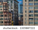 new york buildings facades and... | Shutterstock . vector #1335887222