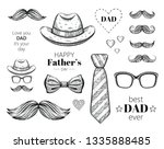 happy father's day elements set.... | Shutterstock .eps vector #1335888485